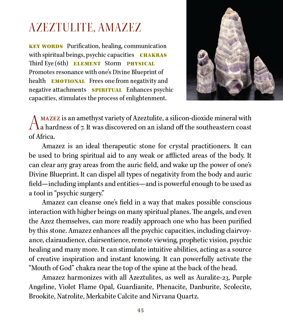 A z crystal mineral information with metaphysical properties azeztulite amazez spiritual malvernweather Images