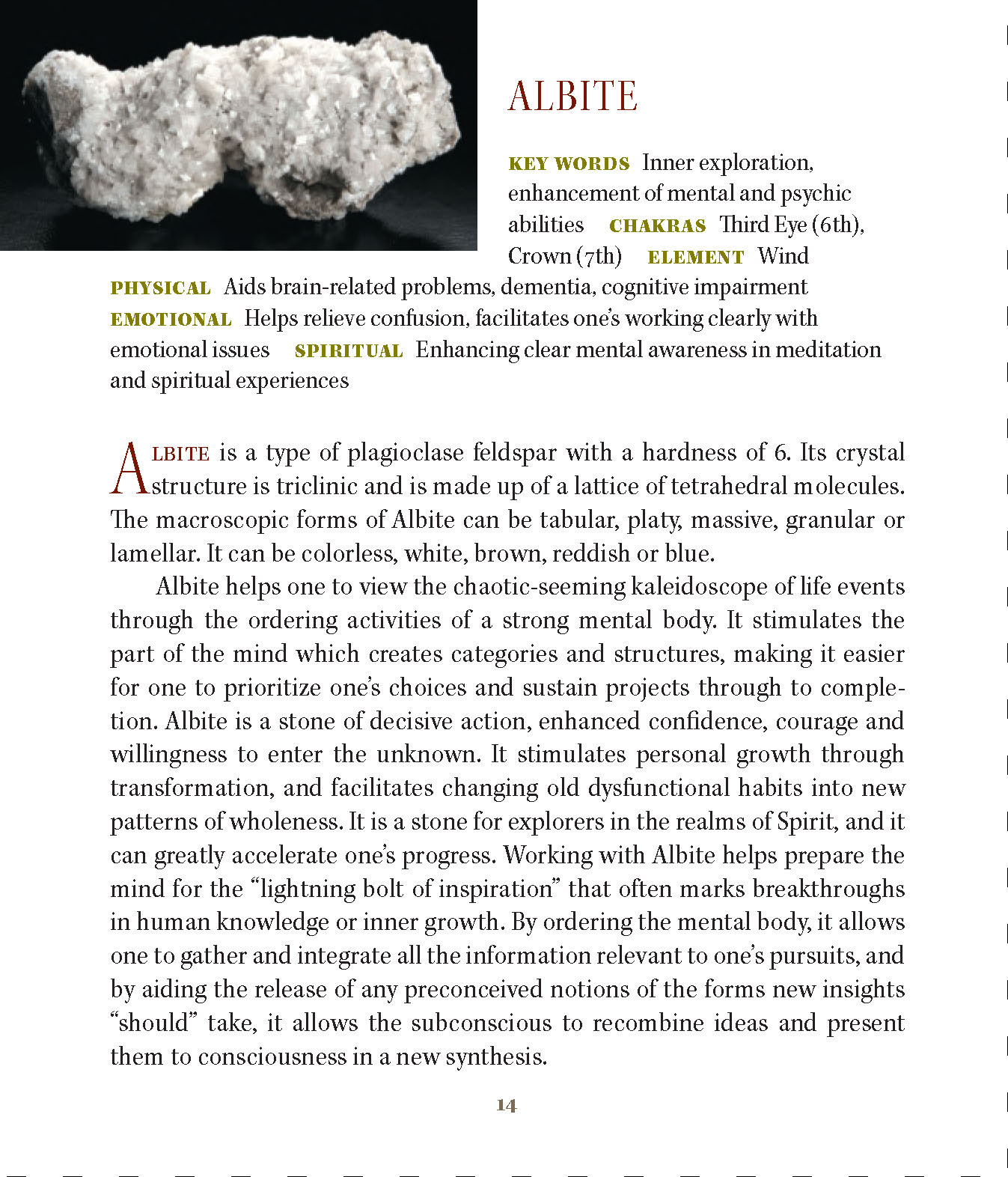 A-Z Crystal & Mineral Information with Metaphysical Properties
